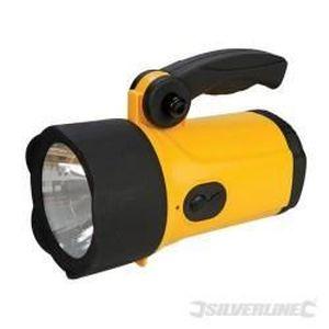SILVERLINE Lampe Torche LED rechargeable ? batterie Li-ion Longueur 210 mm.