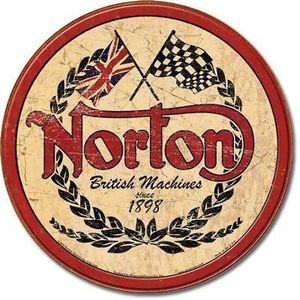 Deco plaques fer ou plaque emaillee  Plaque-tole-publicitaire-norton-biker-moto-mota