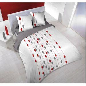 parure housse 220x240 2 taies circus blanc achat vente housse de couette cdiscount. Black Bedroom Furniture Sets. Home Design Ideas