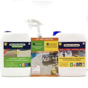 NETTOYAGE SOL Décrasser et protéger sol et terrasse - Pack