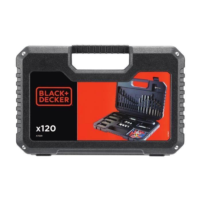 FORET - MECHE BLACK & DECKER Coffret perçage vissage avec 120 ac