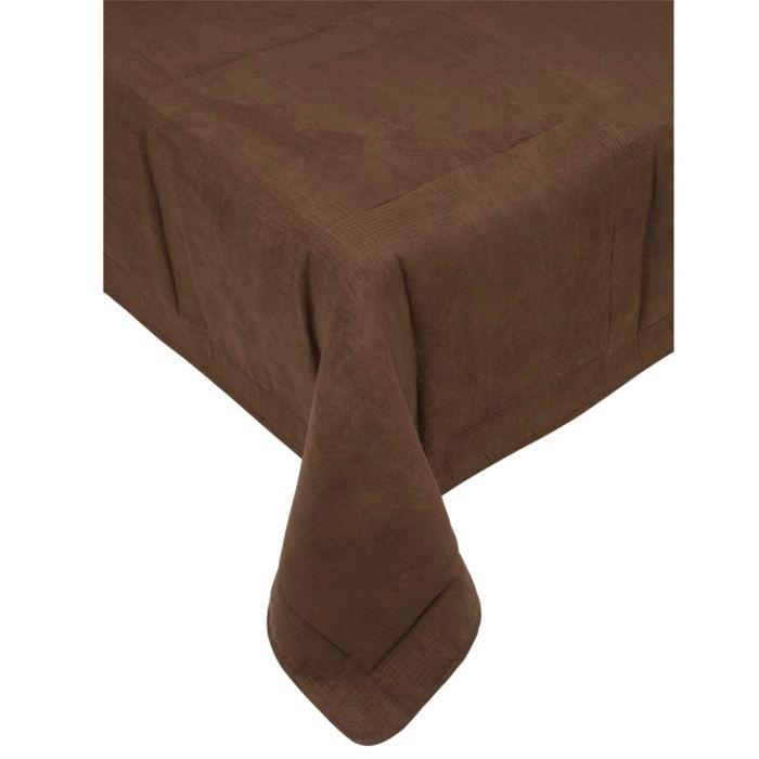Couvre lit quilt 220x250cm largo chocolat achat vente jet e de lit bou - Linge de lit chocolat ...