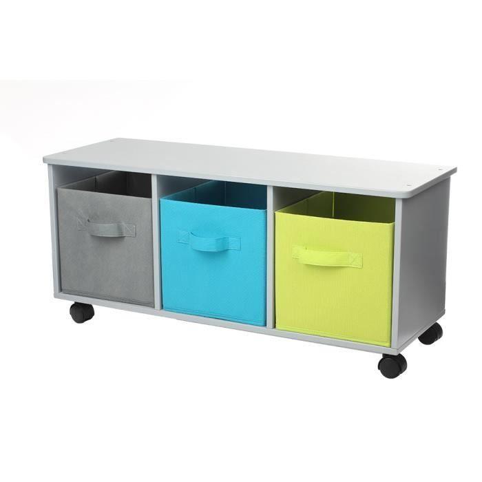 Meuble de rangement 3 tiroirs roulettes maylis boy for Petit meuble de rangement 3 tiroirs