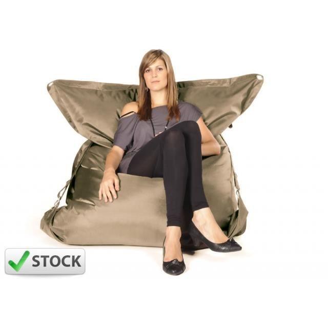 pouf g ant big52 raw sable achat vente pouf poire cdiscount. Black Bedroom Furniture Sets. Home Design Ideas