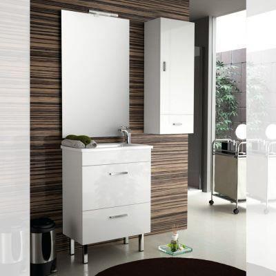 Meuble salle de bain 60 cm couleur blanc achat vente - Meubles salle de bain 60 cm ...