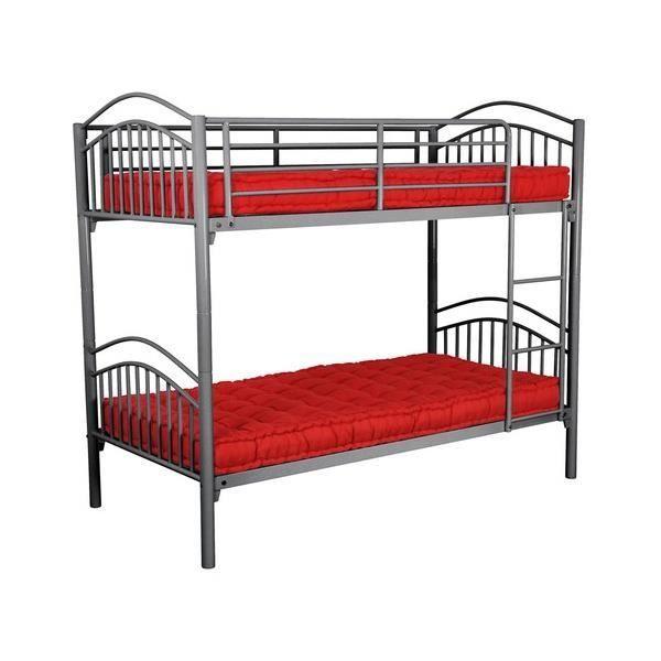 lit superpos s parable m tal gris achat vente lits superpos s lit superpos s parable m t. Black Bedroom Furniture Sets. Home Design Ideas