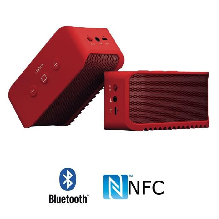 Jabra Solemate Noir Enceinte Bluetooth Nfc Portable Kit: JABRA SOLEMATE Rouge Enceinte Bluetooth NFC Portable Kit