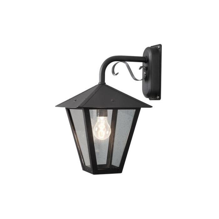 Luminaire exterieur gianna noir achat vente lampion for Lampe murale exterieur