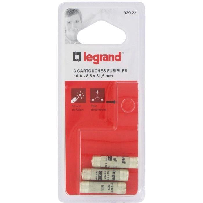 Legrand cartouche fusible pour porte fusible avec t moin 10a 2300w 8 5 x 31 5 achat vente - Porte fusible legrand ...