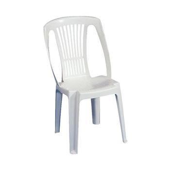 Chaise fauteuil jardin lot 4 chaises blanches en plastique stella - Lot 4 chaises blanches ...