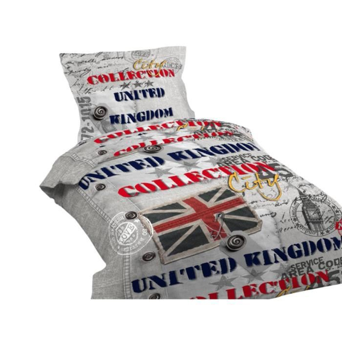 parure housse de couette 140x200 cm united kingdom achat. Black Bedroom Furniture Sets. Home Design Ideas