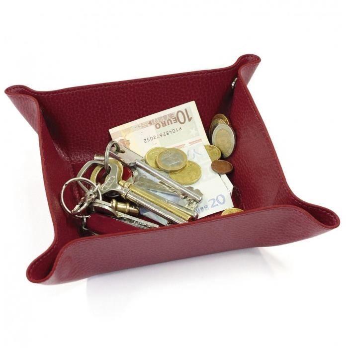 vide poche cuir rouge bordeaux achat vente vide poche cdiscount. Black Bedroom Furniture Sets. Home Design Ideas