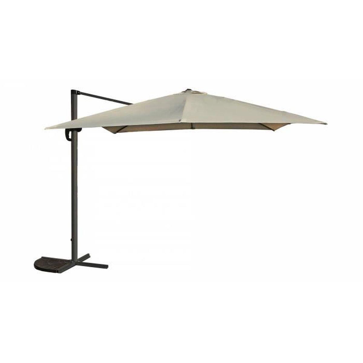 Parasol d port carr 3x3m en aluminium beige achat vente parasol parasol - Parasol prix discount ...