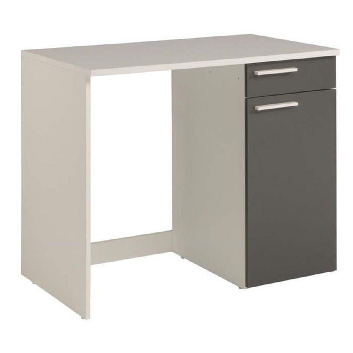 meuble de rangement bas en panneaux de particules gris ombre 86 x 104 x 60 cm achat vente. Black Bedroom Furniture Sets. Home Design Ideas