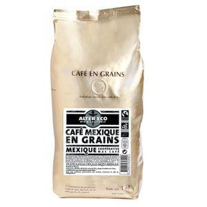 CAFÉ - CHICORÉE ALTER ECO Café Mexique Grains Bio 1kg