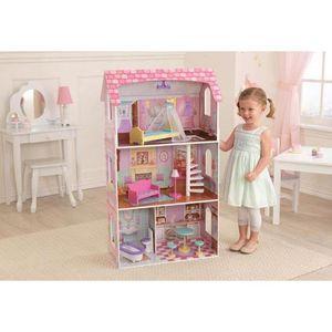 MAISON POUPEE Maison de poupée en bois de princesse avec lit bal