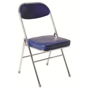 CHAISE Lot de 4 chaises pliantes Air en PVC Bleu et acier