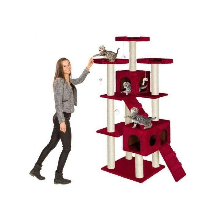 arbre chat 186 cm knuti bordeaux griffoir grattoir tronc 4 souris achat vente arbre. Black Bedroom Furniture Sets. Home Design Ideas