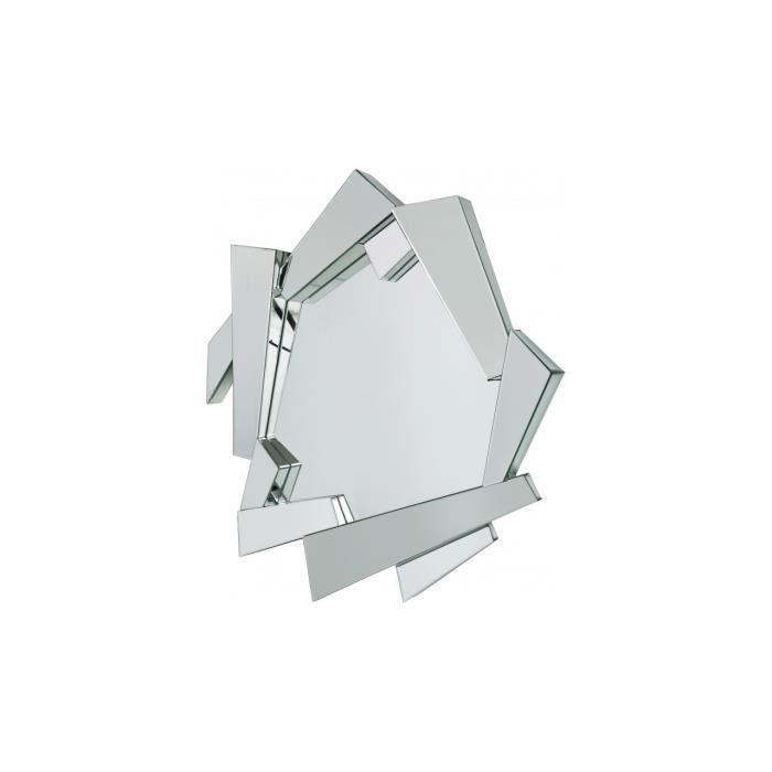miroir design 3d module 116 x 107 achat vente miroir bois mdf cdiscount. Black Bedroom Furniture Sets. Home Design Ideas