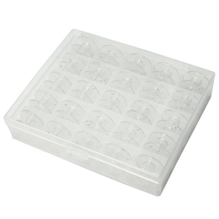 25x plastique canettes bobine fil corde bo te emballage for Boite a couture plastique