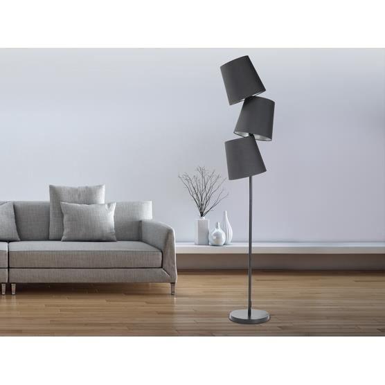 Lampadaire but dco lampadaire design avec abat jour noir vitry sur seine papier with lampadaire for Lampe salon fly