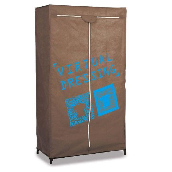 Armoire de rangement marron achat vente armoire de for Achat armoire chambre