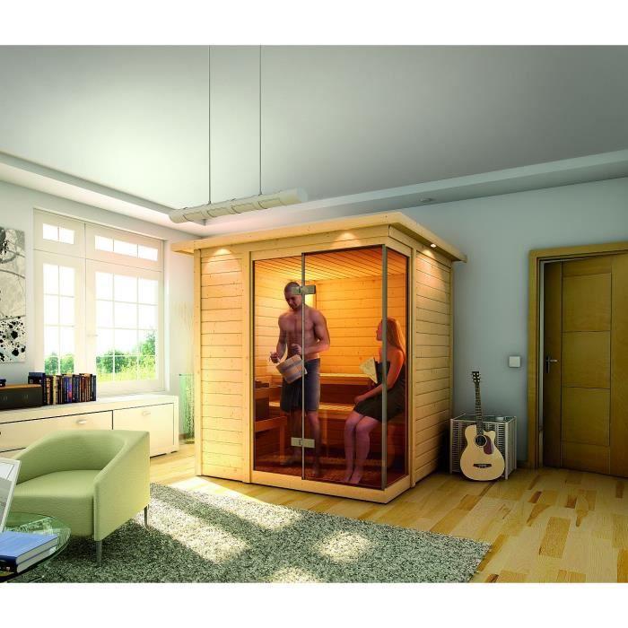 Sauna traditionnel platina 2 avec couronne 40 m achat vente kit sauna - Achat sauna traditionnel ...