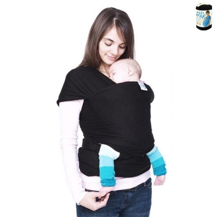 echarpe de portage extensible moby wrap noir achat vente cape porte b 233 b 233 2009926250221