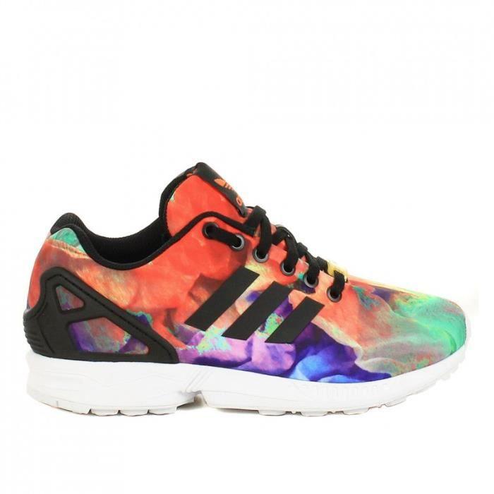 on sale 250bc de7d0 basket adidas zx flux imprime ti