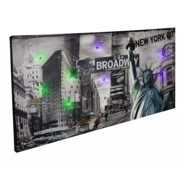 Tableau led brodway achat vente tableau toile cdiscount - Tableau led new york ...