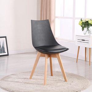 chaises de cuisine et de salle a manger chaise design bois noir achat vente chaises de. Black Bedroom Furniture Sets. Home Design Ideas