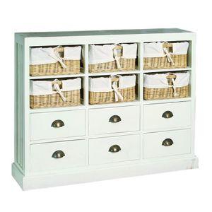 Meuble de rangement 6 tiroirs achat vente meuble de - Meuble tiroir panier ...
