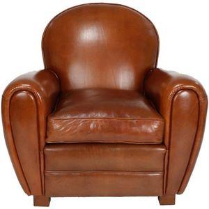 fauteuil club cuir achat vente fauteuil club cuir pas cher soldes cdiscount. Black Bedroom Furniture Sets. Home Design Ideas