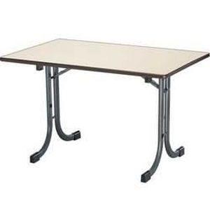 Table rectangulaire pliante varese longueur 120 achat vente table de jar - Pietement pour table pliante ...