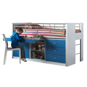 lit combine bureau et rangement achat vente lit combine bureau et rangement pas cher cdiscount. Black Bedroom Furniture Sets. Home Design Ideas