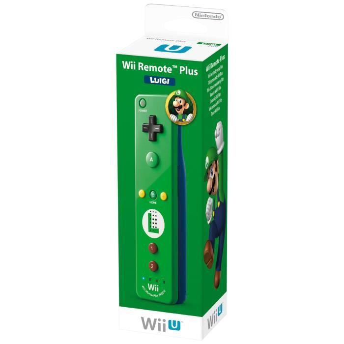 MANETTE CONSOLE Télécommande Luigi Verte Edition Limitée Wii U