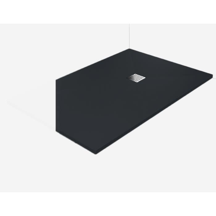 receveur de douche extra plat all g 80x80 anthracite bonde pour douche l italienne achat. Black Bedroom Furniture Sets. Home Design Ideas
