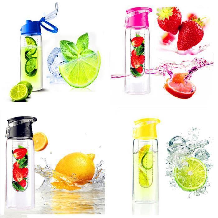 800ml bouteille eau verre bouteille fruit infusion pour sport voyage achat vente verre. Black Bedroom Furniture Sets. Home Design Ideas