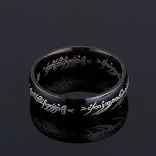 ... des anneaux noire - Achat / Vente chevaliere bague seigneur des