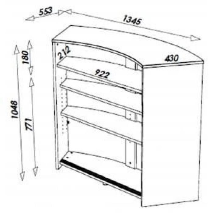 Meuble bar comptoir de cuisine accueil blanc coloris for Importateur meuble