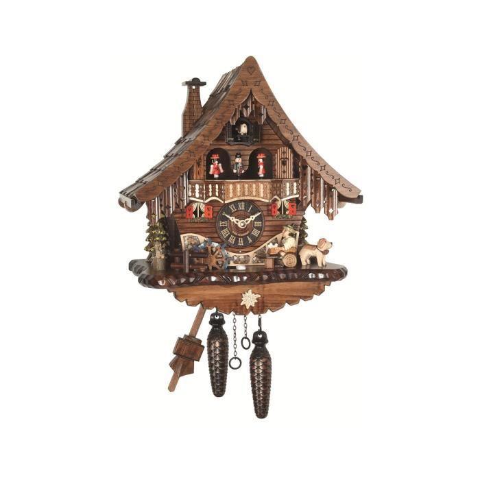 pendule coucou quartz maison de la for t noire avec. Black Bedroom Furniture Sets. Home Design Ideas