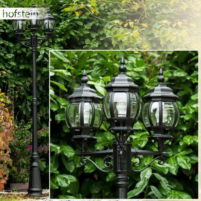 Cand labre ext rieur lampe de jardin m tal noir achat for Candelabre exterieur