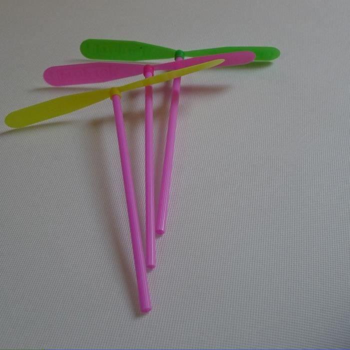 100pcs volants f e plastique bambou libellule jouets for Bambou plastique