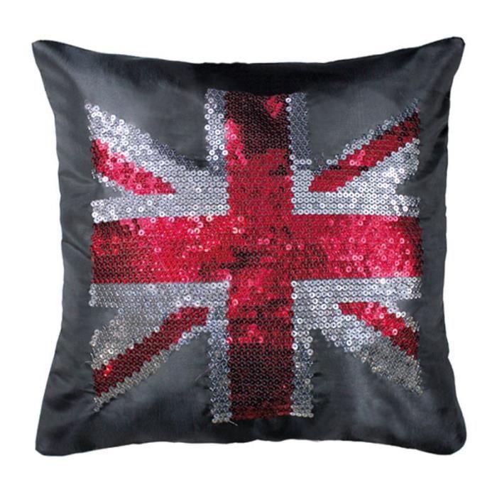Paris prix housse de coussin strass british flag for Housse de coussin 65x65