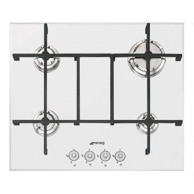 Table de cuisson 60cm gaz blanc smeg pv640b achat - Table de cuisson smeg ...