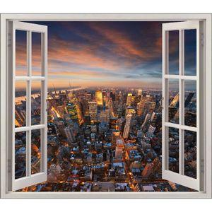 Trompe l oeil fenetre 80x70 achat vente trompe l oeil for Building sans fenetre new york