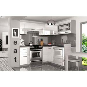 Cuisine equipee blanc laque achat vente cuisine - Cuisine equipee complete ...