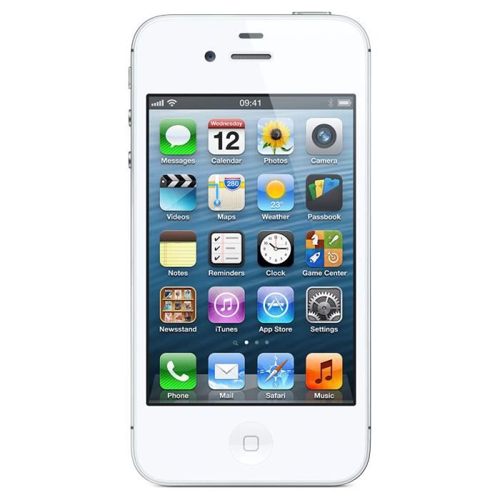 iphone 4s blanc 32go boite blancigine achat smartphone. Black Bedroom Furniture Sets. Home Design Ideas