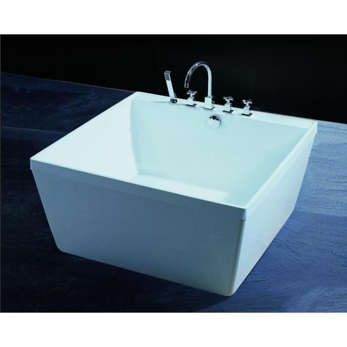 empoli baignoire ilot carre 120x120 achat vente. Black Bedroom Furniture Sets. Home Design Ideas