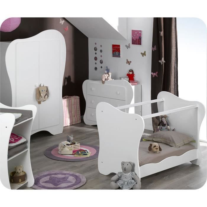 Chambre b b compl te iris blanche achat vente chambre for Achat chambre complete